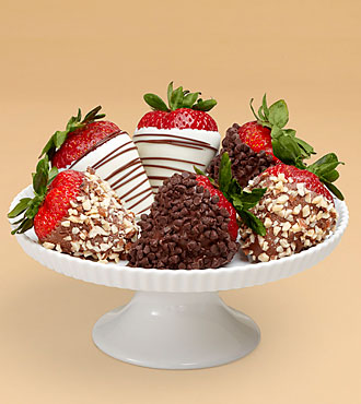 Half Dozen Gourmet Dipped Fancy Strawberries