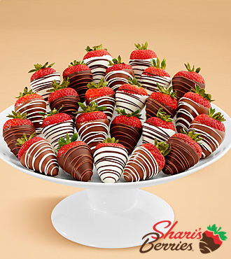 Two Full Dozen Gourmet Dipped Swizzled Strawberries