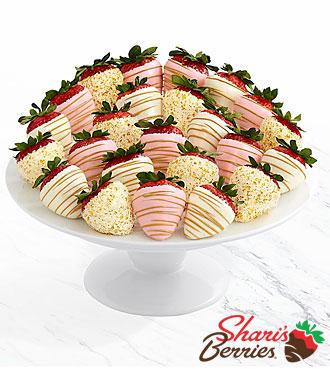 Two Full Dozen Pink Champagne Strawberries