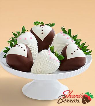 Half Dozen Hand-Dipped Wedding Strawberries