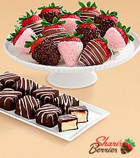 9 Strawberry Cheesecake Bites & Full Dozen Mother's Day Berries