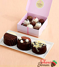 Dipped Cheesecake Trio & 9 Mother's Day Cake Truffles