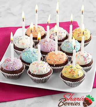 12 Handmade Birthday Brownie Pops
