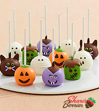 12 Handmade Halloween Brownie Pops
