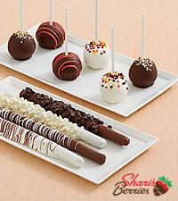 4 Caramel Pretzels & 12 Autumn Cake Pops