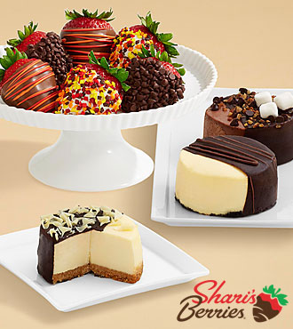 Dipped Cheesecake Trio & Half Dozen Autumn Strawberries