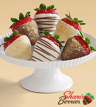 Half Dozen Gourmet Dipped Christmas Cheesecake Strawberries
