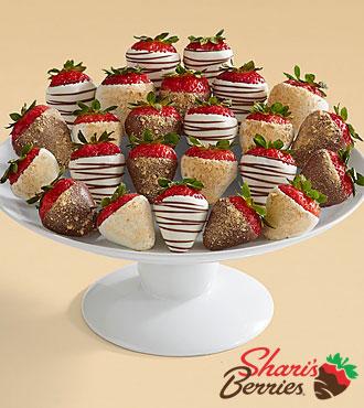 Two Full Dozen Gourmet Dipped Christmas Cheesecake Strawberries