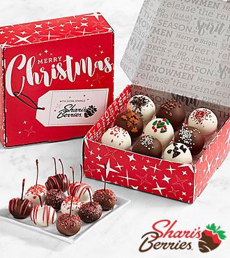 10 Christmas Cherries & 18 Christmas Cake Truffles