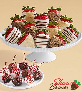 10 Christmas Cherries & Full Dozen Cheesecake Strawberries