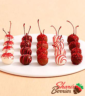 20 Hand Dipped Christmas Cherries