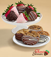 4 Dipped Cookies & Half Dozen Mother's Day Strawberries
