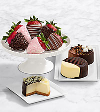 Dipped Cheesecake Trio & Half Dozen Mother's Day Strawberries