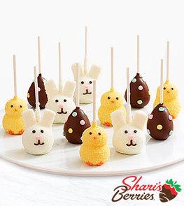 12 Handmade Easter Brownie Pops