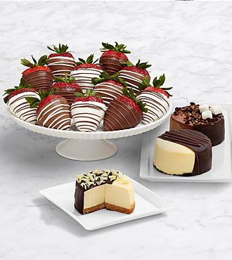 Dipped Cheesecake Trio & Full Dozen Swizzled Strawberries