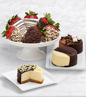 Dipped Cheesecake Trio & Half Dozen Fancy Strawberries