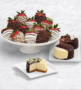 Dipped Cheesecake Trio & Full Dozen Fancy Strawberries