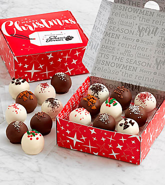 18 Christmas Cake Truffles with Hidden Messages