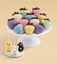 3 Easter Brownie Pops® and Full Dozen Easter Egg Strawberries bundle