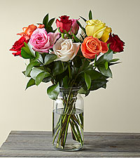 Mixed 1 Dozen Long Stem Roses