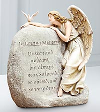In Memory Angel Garden Statue