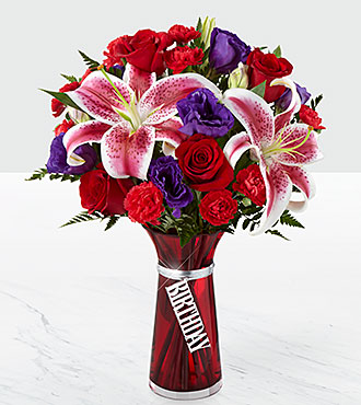 Le bouquet Birthday Wishes™ - VASE INCLUS