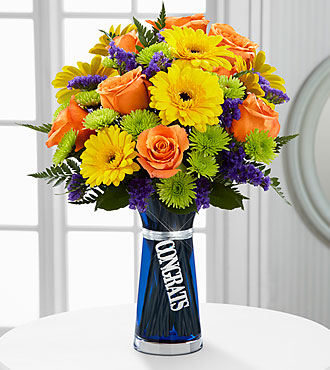 The FTD® Congrats Bouquet - VASE INCLUDED