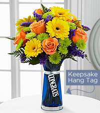 Bouquet Félicitations - VASE INCLUS