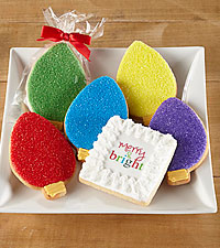Glittering Gourmet Merry & Bright Holiday Sugar Cookies