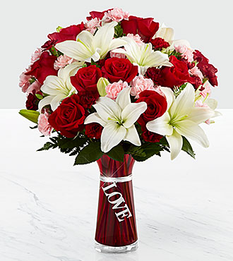 Expressions of Love Bouquet - VASE INCLUDED