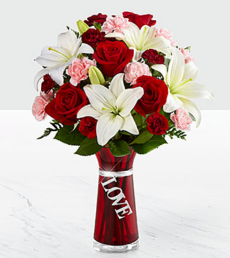 Le bouquet Expressions of Love - VASE INCLUS
