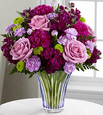 The Timeless Traditions™ Bouquet by FTD® - CUT GLASS VASE INCLUDED