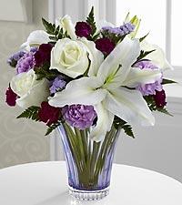 Le bouquet Thinking of You™ - VASE EN VERRE TAILLÉ INCLUS