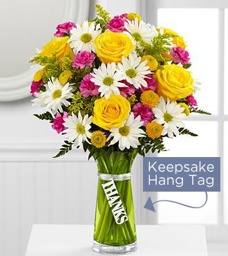 Le bouquet de remerciement – VASE INCLUS