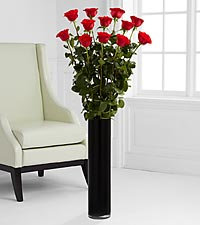 The Ultimate Rose Bouquet - 12 Stems, 4 Foot Roses - VASE INCLUDED