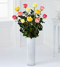 The Ultimate Mixed Rose Bouquet - 12 Stems, 3.5-foot Roses