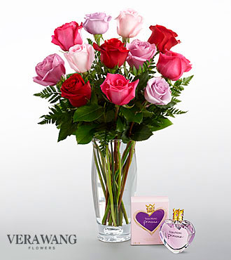 The FTD® Captivating Color™ Rose Bouquet by Vera Wang with Fragrance