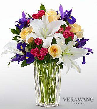 Le bouquet New Day Dawns<sup>&trade;</sup> de FTD<sup>®</sup> par Vera Wang - VASE INCLUS