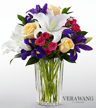 The FTD® New Day Dawns™ Bouquet by Vera Wang - VASE INCLUDED