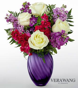 Le bouquet Spirited™ de FTD® par Vera Wang - VASE INCLUS