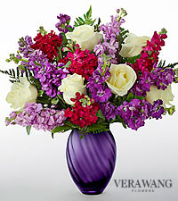 Bouquet fougueux de Vera Wang - VASE INCLUS