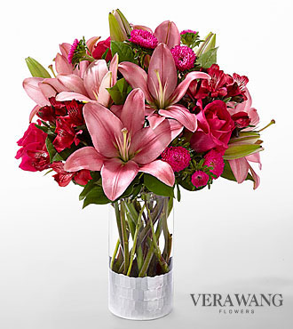 The FTD® Primrose Garden™ Bouquet by Vera Wang - VASE INCLUDED