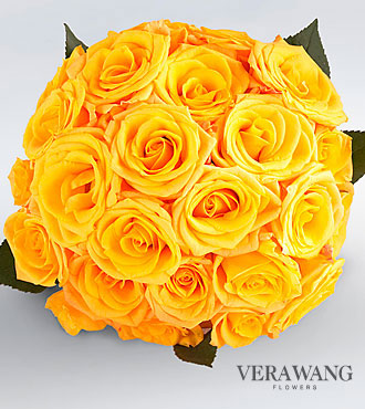 Vera Wang Yellow Rose Bouquet - 24 Stems Premium Roses, No Vase