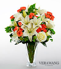 Vera Wang Sunset Memories Bouquet - VASE INCLUDED