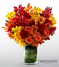 Vera Wang Sun Crush Fashion Bouquet - VASE INCLUDED