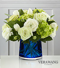 Vera Wang Mediterranean Chic Bouquet - VASE INCLUDED