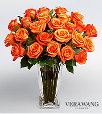 Vera Wang Orange Rose Bouquet