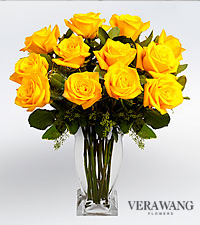 Vera Wang Yellow Premium Rose Bouquet