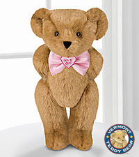 Vermont Teddy Bear® 15-inch 'Its a Girl!' Bowtie Bear