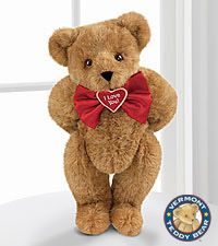 Vermont Teddy Bear® 15-inch 'I Love You' Bowtie Teddy Bear